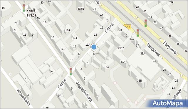 Warszawa, Kępna, 6, mapa Warszawy