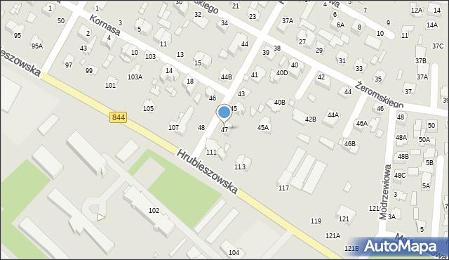 Chełm, Kilińskiego Jana, płk., 47, mapa Chełma