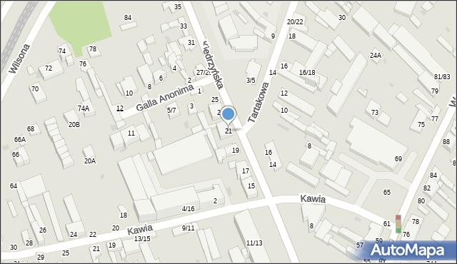 Częstochowa, Kiedrzyńska, 21, mapa Częstochowy
