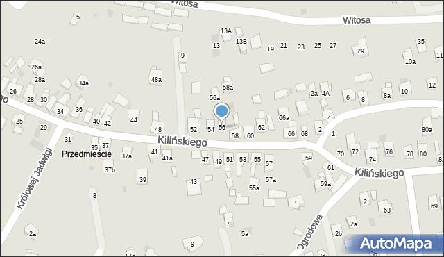 Dobczyce, Kilińskiego Jana, płk., 56, mapa Dobczyce