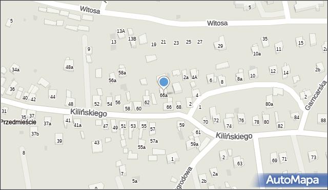 Dobczyce, Kilińskiego Jana, płk., 66a, mapa Dobczyce
