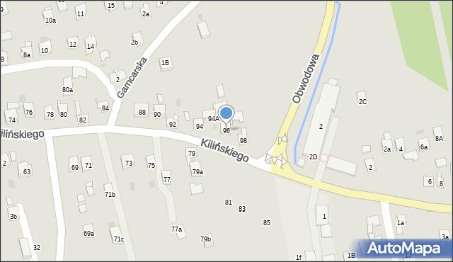 Dobczyce, Kilińskiego Jana, płk., 96, mapa Dobczyce
