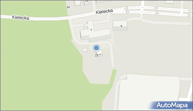 Gdynia, Kielecka, 13, mapa Gdyni
