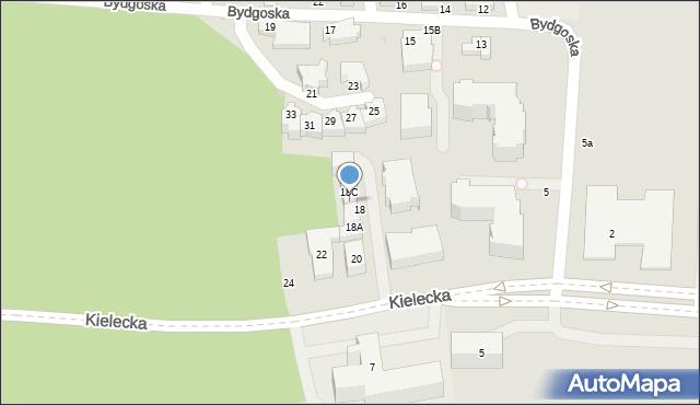 Gdynia, Kielecka, 20A, mapa Gdyni