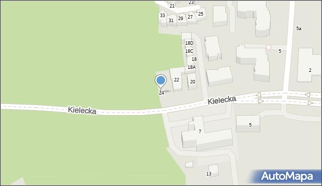 Gdynia, Kielecka, 24, mapa Gdyni