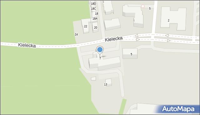 Gdynia, Kielecka, 7, mapa Gdyni