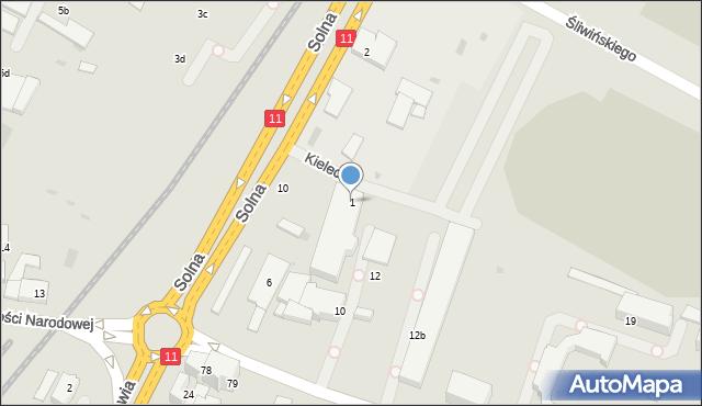 Kołobrzeg, Kielecka, 1, mapa Kołobrzegu