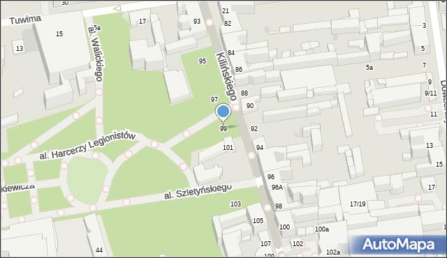 Łódź, Kilińskiego Jana, płk., 99, mapa Łodzi