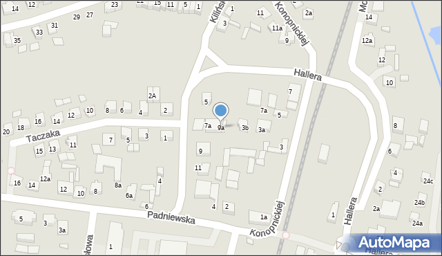 Mogilno, Kilińskiego Jana, płk., 9a, mapa Mogilno