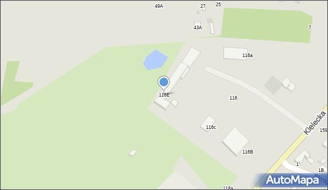Radom, Kielecka, 116E, mapa Radomia