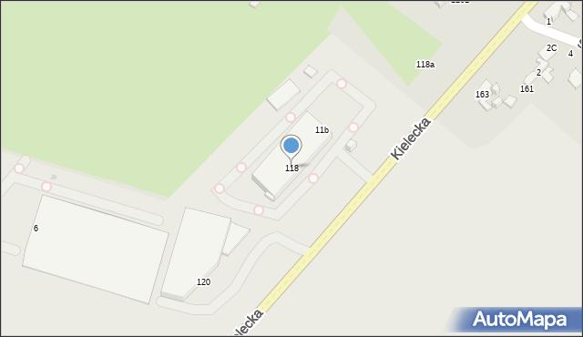 Radom, Kielecka, 118, mapa Radomia