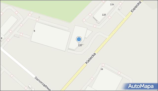 Radom, Kielecka, 120, mapa Radomia