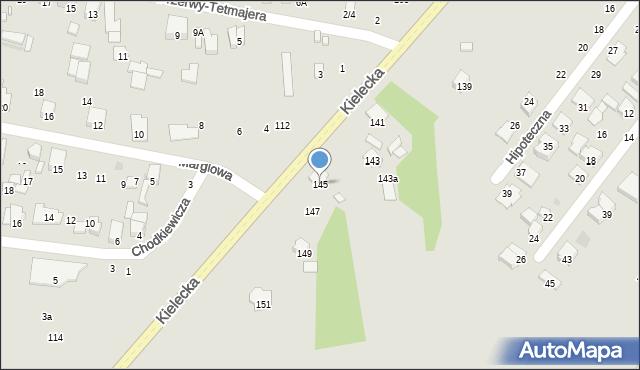 Radom, Kielecka, 145, mapa Radomia