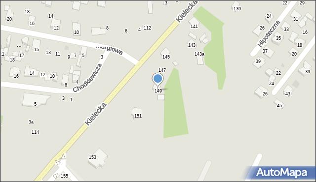 Radom, Kielecka, 149, mapa Radomia