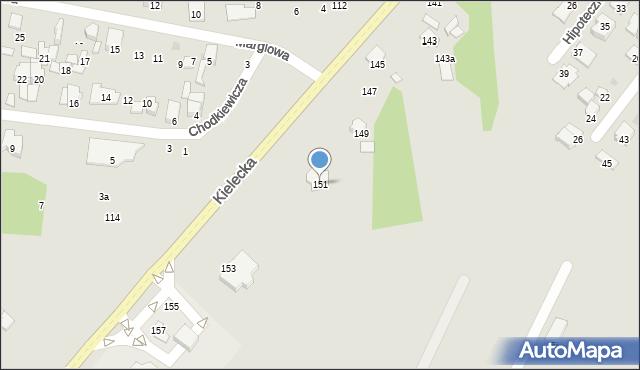 Radom, Kielecka, 151, mapa Radomia