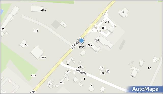 Radom, Kielecka, 159b, mapa Radomia