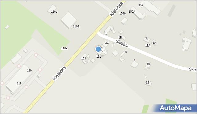 Radom, Kielecka, 161, mapa Radomia