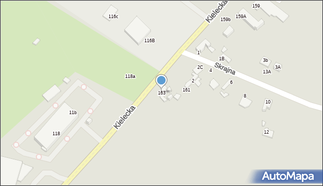 Radom, Kielecka, 163, mapa Radomia