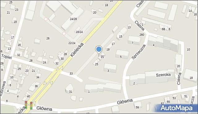 Radom, Kielecka, 23, mapa Radomia