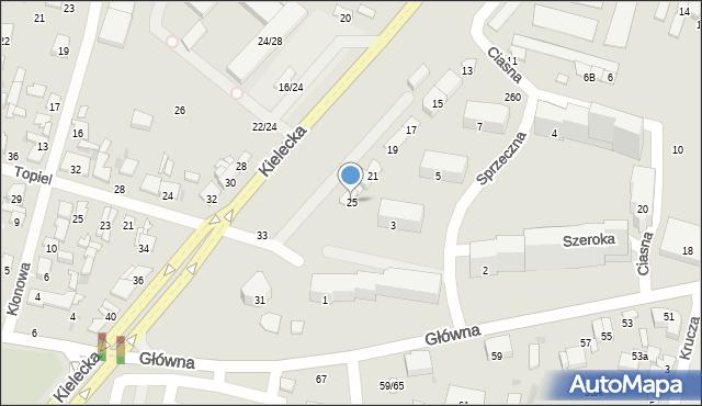 Radom, Kielecka, 25, mapa Radomia