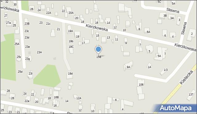 Radom, Kierzkowska, 15B, mapa Radomia