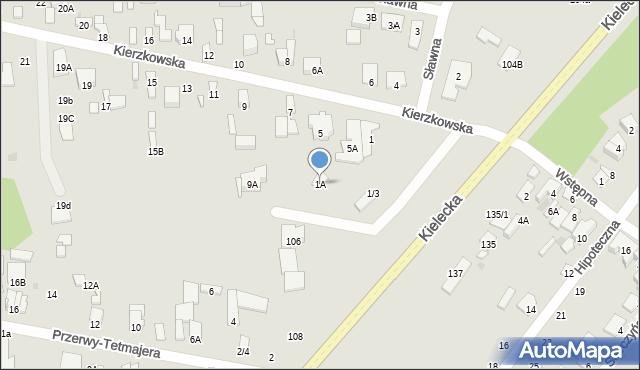 Radom, Kierzkowska, 1A, mapa Radomia