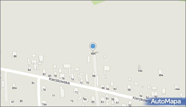 Radom, Kierzkowska, 68A, mapa Radomia