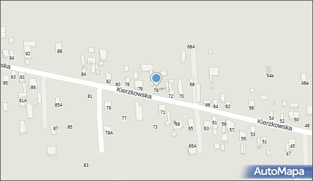 Radom, Kierzkowska, 74, mapa Radomia