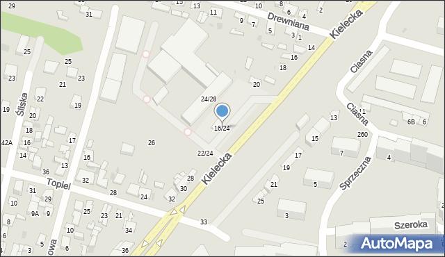 Radom, Kielecka, 16/24, mapa Radomia