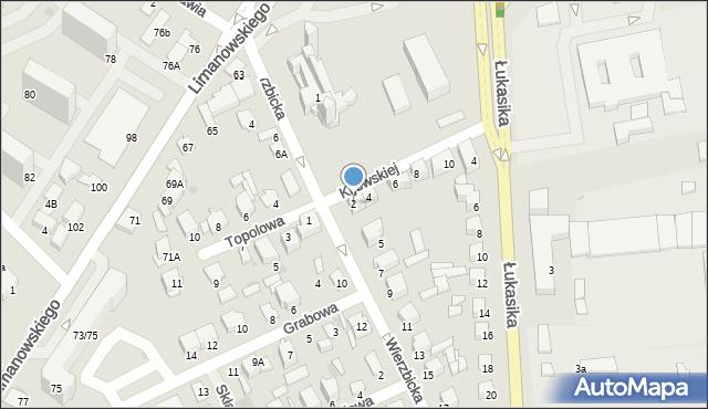 Radom, Kijewskiej Bohdany, 2, mapa Radomia