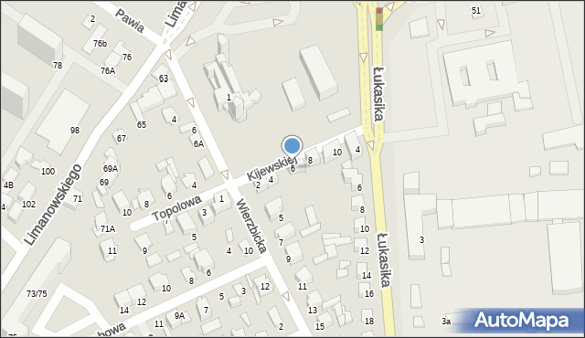 Radom, Kijewskiej Bohdany, 6, mapa Radomia