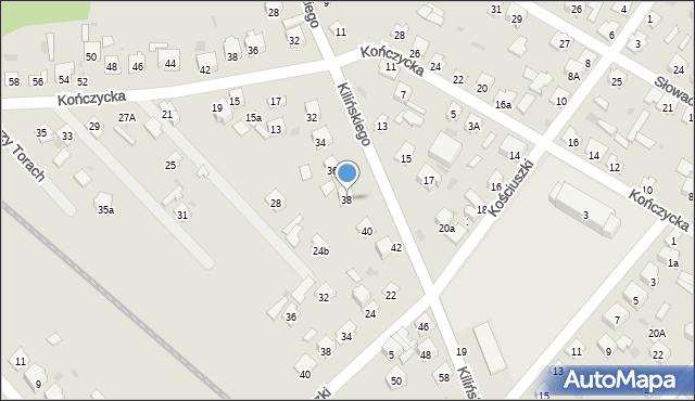Rudnik nad Sanem, Kilińskiego Jana, płk., 38, mapa Rudnik nad Sanem