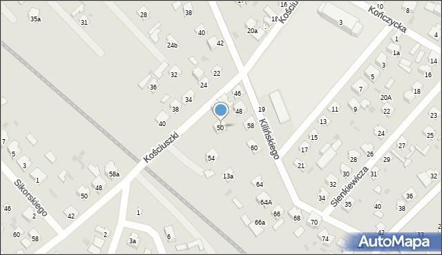Rudnik nad Sanem, Kilińskiego Jana, płk., 50, mapa Rudnik nad Sanem