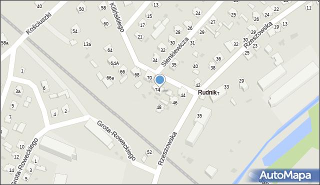 Rudnik nad Sanem, Kilińskiego Jana, płk., 76, mapa Rudnik nad Sanem