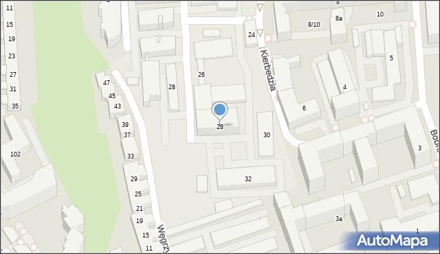 Warszawa, Kierbedzia Stanisława, 28, mapa Warszawy
