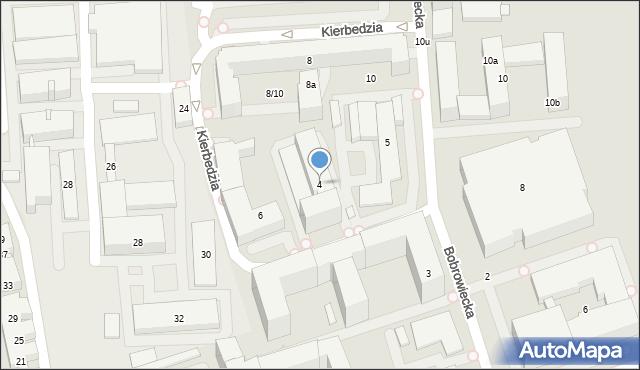 Warszawa, Kierbedzia Stanisława, 4, mapa Warszawy