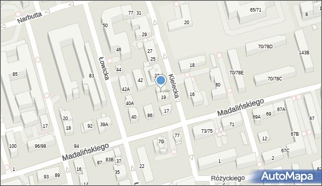Warszawa, Kielecka, 21, mapa Warszawy