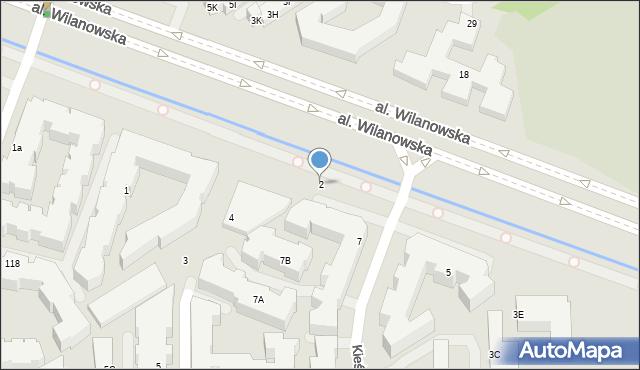 Warszawa, Kieślowskiego Krzysztofa, 2, mapa Warszawy
