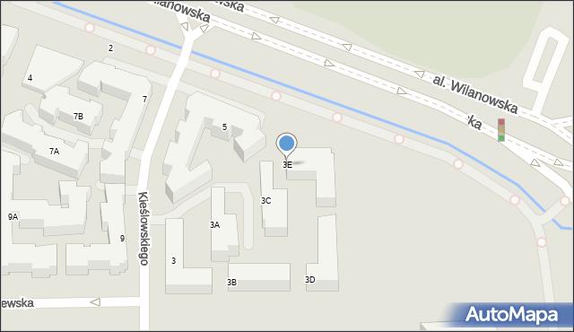 Warszawa, Kieślowskiego Krzysztofa, 3E, mapa Warszawy