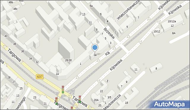 Warszawa, Kijowska, 1a, mapa Warszawy