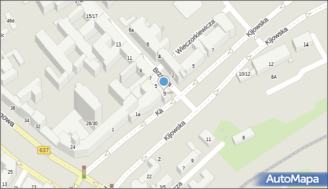 Warszawa, Kijowska, 3, mapa Warszawy