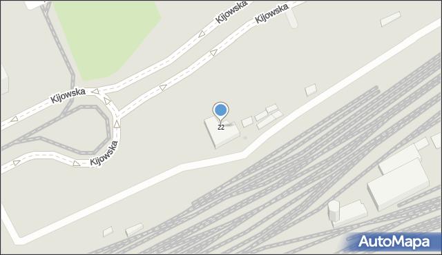 Warszawa, Kijowska, 22, mapa Warszawy