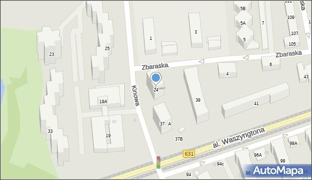 Warszawa, Kinowa, 24, mapa Warszawy
