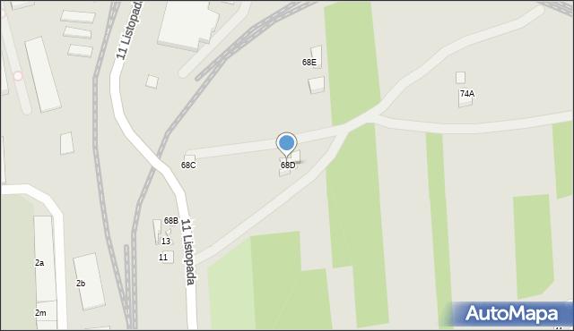 Zamość, Kilińskiego Jana, płk., 68D, mapa Zamościa
