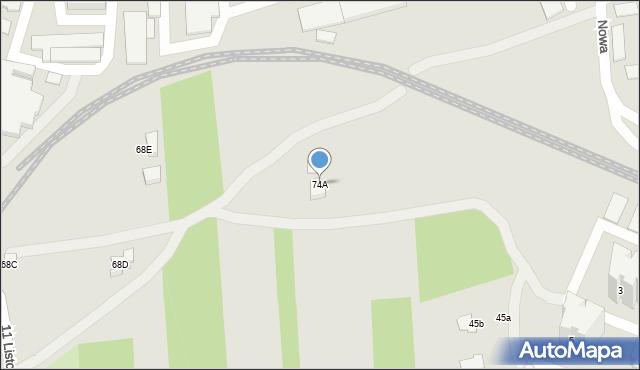 Zamość, Kilińskiego Jana, płk., 74A, mapa Zamościa