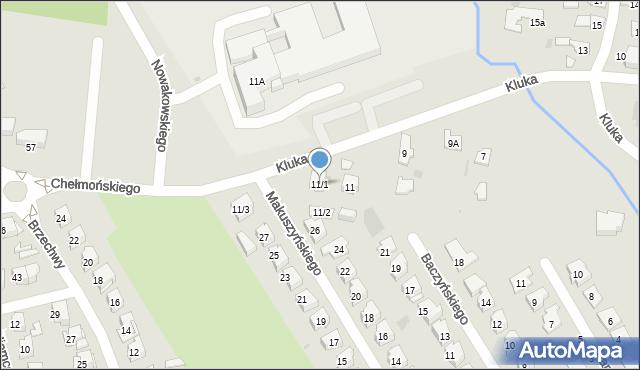Białystok, Kluka Jana Krzysztofa, 11/1, mapa Białegostoku