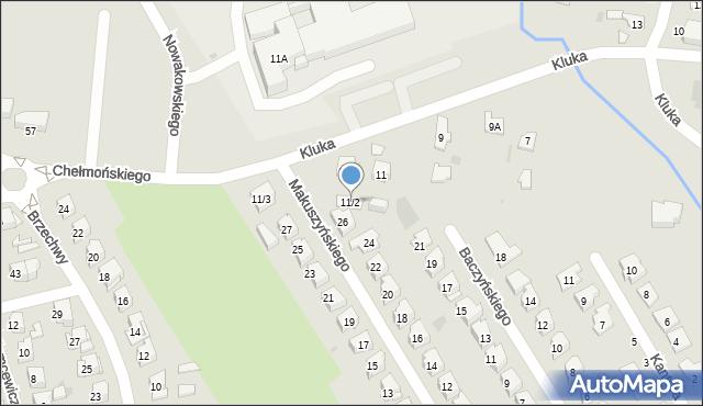 Białystok, Kluka Jana Krzysztofa, 11/2, mapa Białegostoku