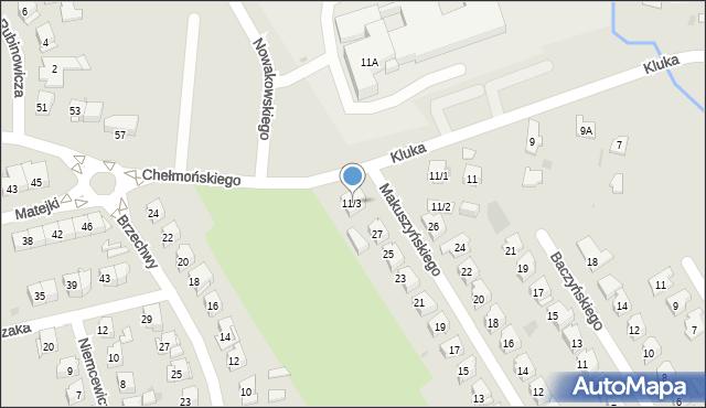 Białystok, Kluka Jana Krzysztofa, 11/3, mapa Białegostoku