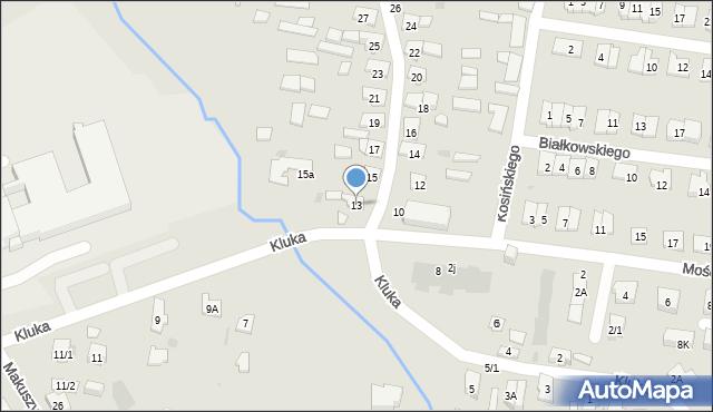Białystok, Kluka Jana Krzysztofa, 13, mapa Białegostoku