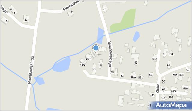 Białystok, Kluka Jana Krzysztofa, 45/3, mapa Białegostoku